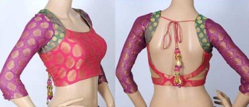 Saree Blouse Designs-Multicolored Blouse 23