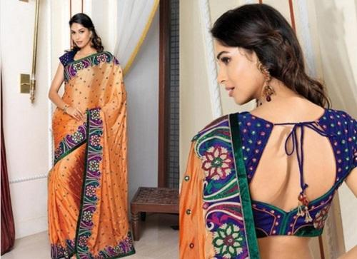 Saree Blouse Designs-Silk Saree Blouse 30