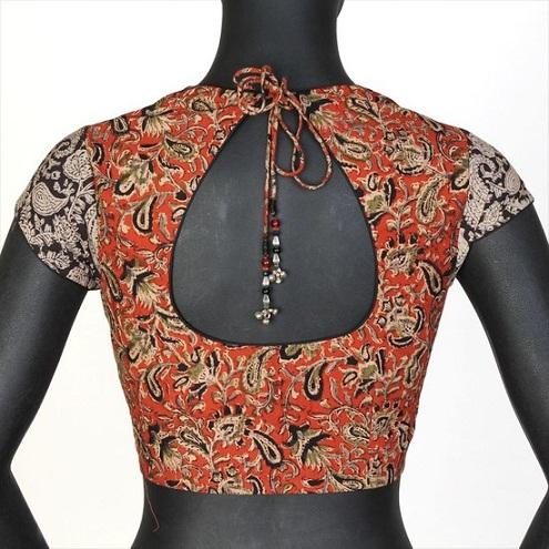 Pot Neck Saree Blouse Designs