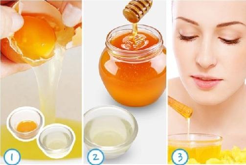 Lemon, Honey, Egg white Skin Tightening Face Mask for Combination Skin
