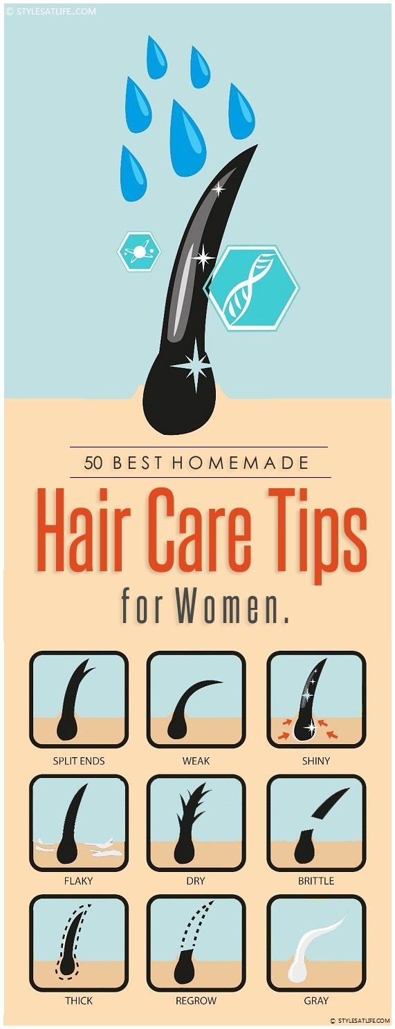 50 Best Homemade Hair Care Tips for Women