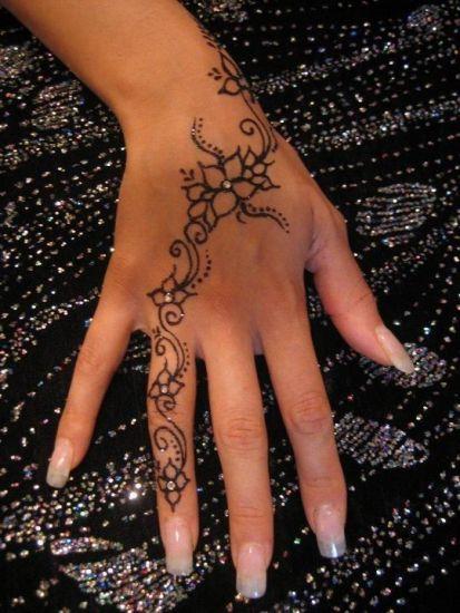 Henna for fingers