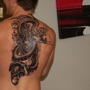 Gorgeous back tattoos