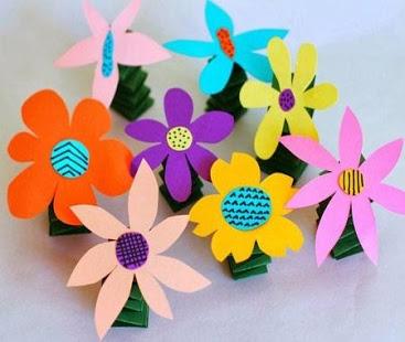 Kids Flower Art and Craft Ideas