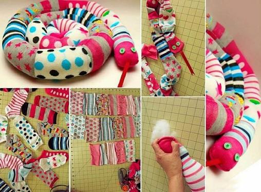 Colourful Socks Craft Ideas