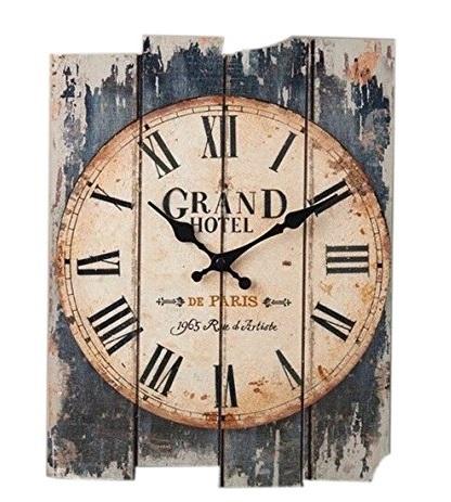 "20"" Vintage European Style Rectangular Clock"