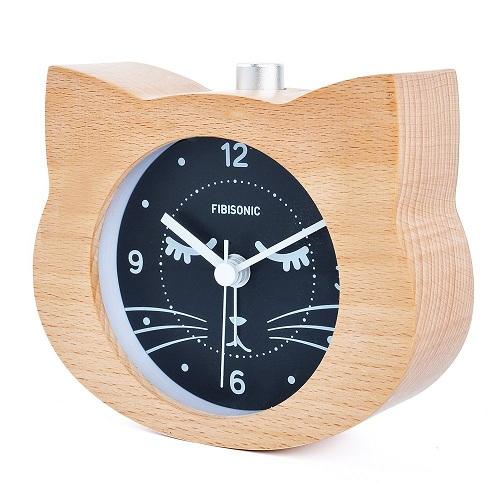Wood Table Alarm Clock