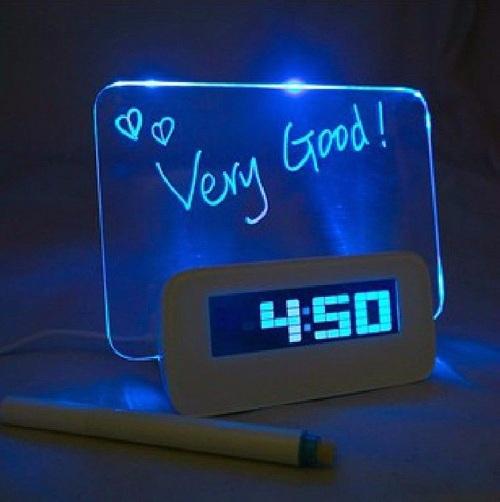Alarm Clock Memo Board Creative with Highlighter