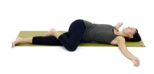 Relaxing Yoga Asana - Eagle Twist Yoga