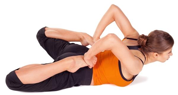 Typical Yoga Pose Bhekasana Or Frog Posture
