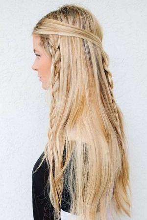 Easy Plaited Hair Up-do