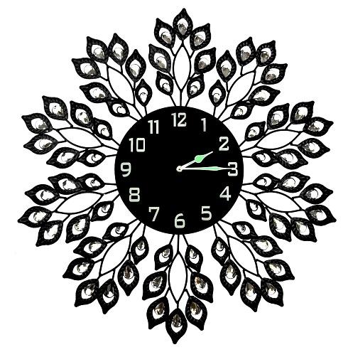 Leaf Metal Wall Clock