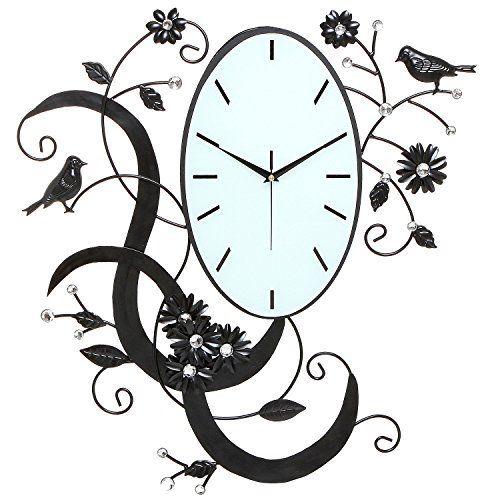 Birds & Flowers Wall Clock