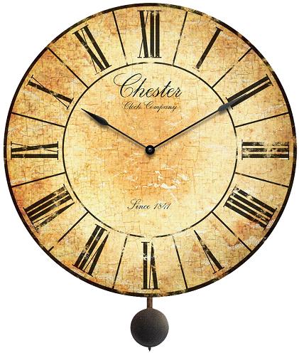 Vintage Wall Clock With Pendulum