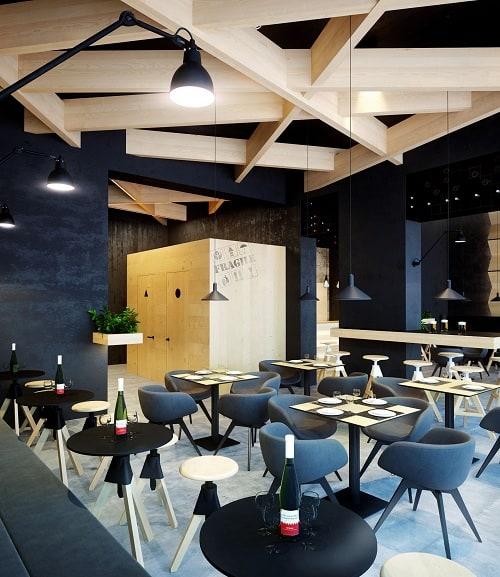 Café Ceiling Design
