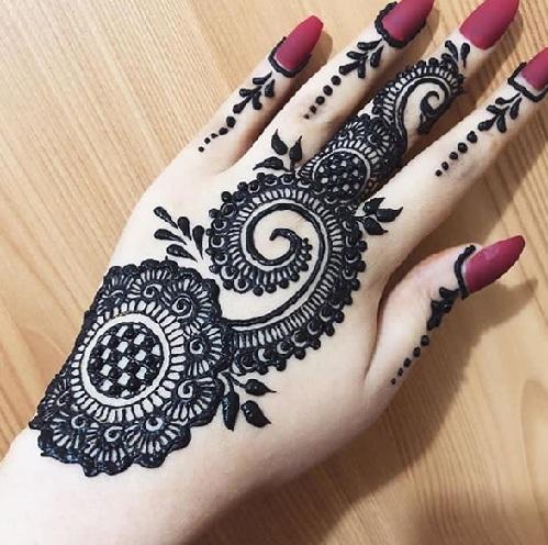 Back Hand Arabic Mehandi Designs