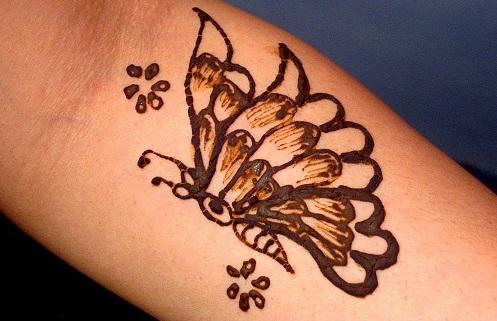 Butterfly Mehandi Design