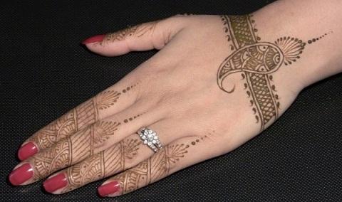 Mango Mehndi Designs for Hands