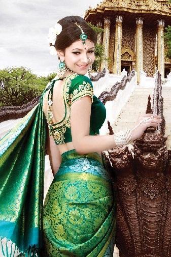 Green blouse designs1