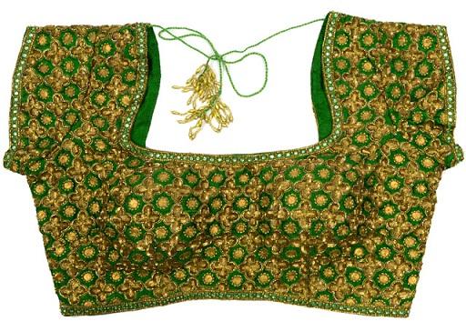 Green blouse designs7