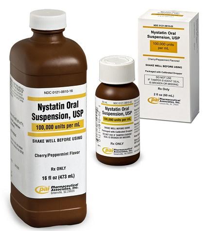 Nystatin Oral Suspension for Angular cheilitis