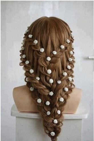 Floral Braid Hairstyle