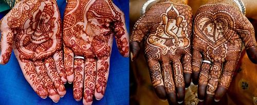 Ganpati Design For Palm