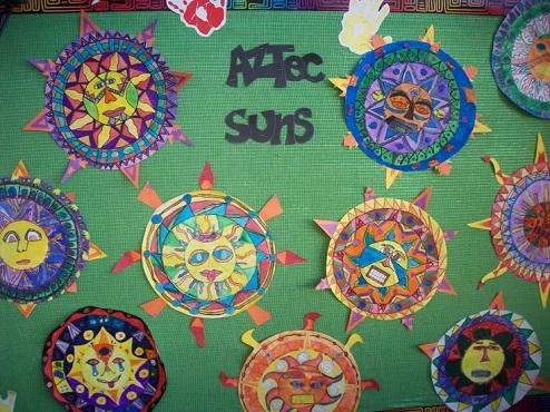 Aztec Sun Art