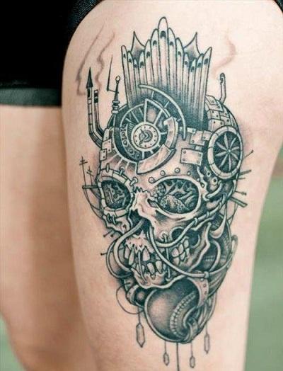 9 Amazing Biomechanical Tattoo Designs