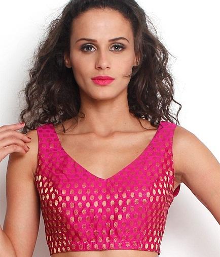 Cotton Saree Blouse Neck Designs2