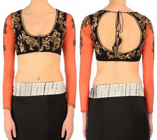 Cotton Saree Blouse Neck Designs5