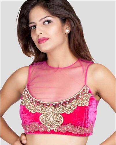 Cotton Saree Blouse Neck Designs8