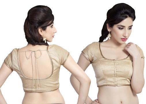 9 Amazing Cotton Saree Blouse Neck Designs