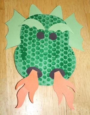 Dragon Bubble Wrap Print