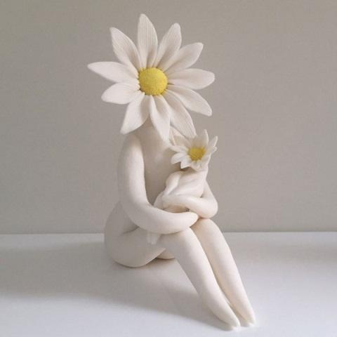 Serene Mother Plaster of Paris Crafts