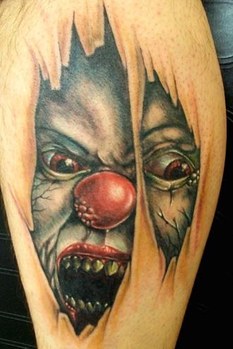 Scary Ripped Skin Tattoo Design