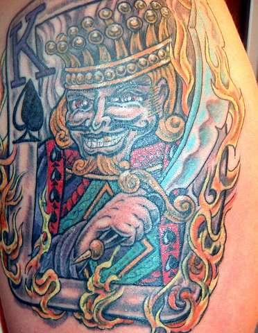 artistic king of spade tattoo design