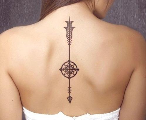 Arrow Compass Cord Tattoo
