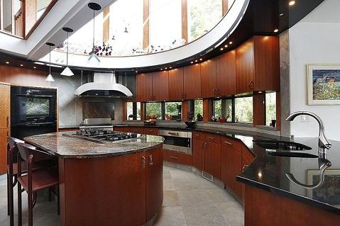 Semi-circular luxury kitchen