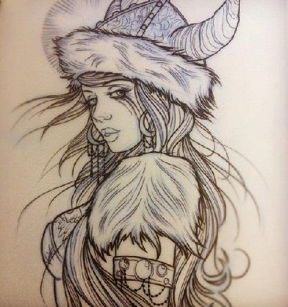 Girl Viking Tattoos