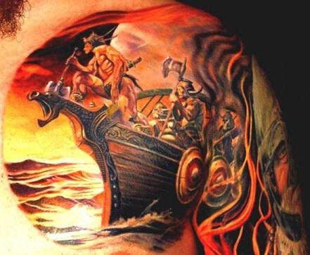 Viking Ship Tattoos