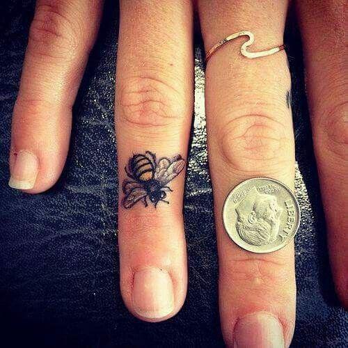 Vintage Bee Tattoo Designs