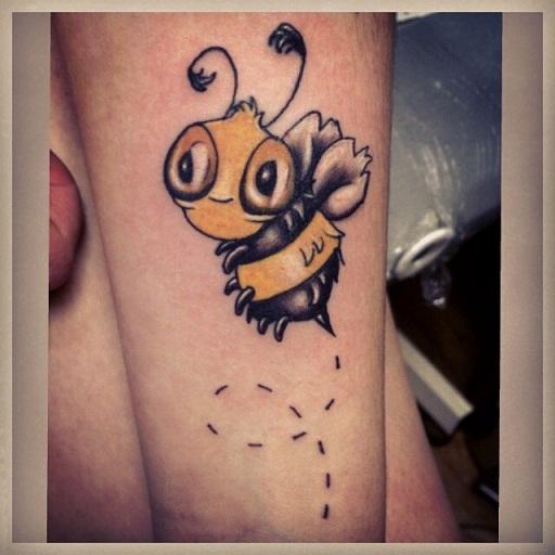 Funky Bee Tattoo Designs
