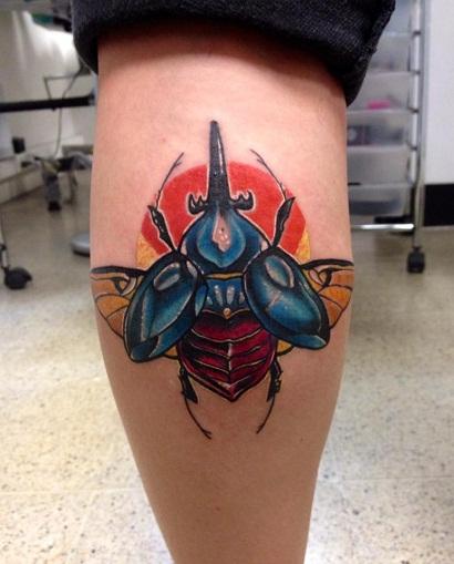 Cool Beetle Tattoo Design