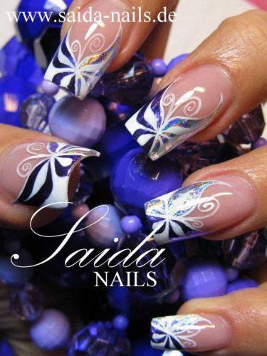 butterfly nail art2