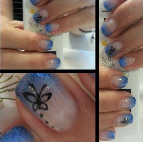 butterfly nail art3