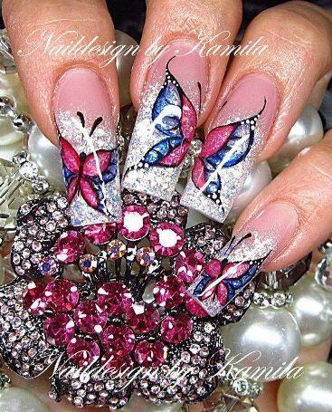 butterfly nail art4
