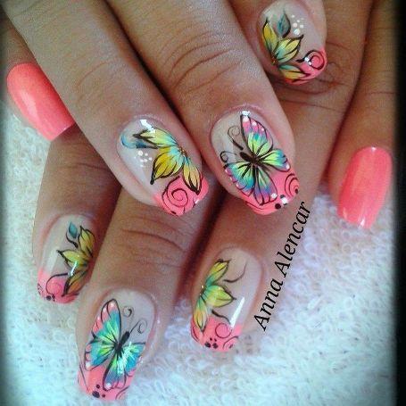 butterfly nail art5