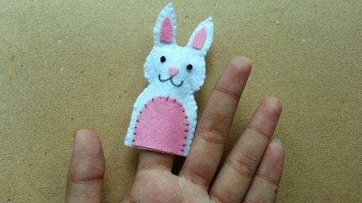 Finger Bunny Puppet