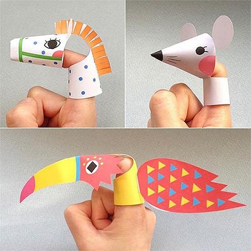 Facial Animal Puppets